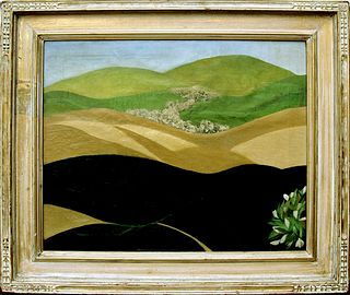 Modernist Landscape, oil on canvas by Arnold Friedman