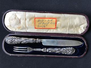 English Sterling Serving Set Knife and Fork