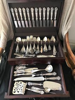 Georgian Towle Sterling Flatwear 12 place 16 Serving pieces 148 pieces
