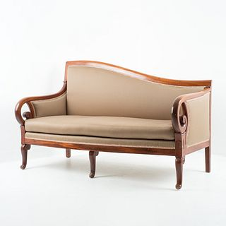 Neo Classic Cubus mahogany upholstered meridienne sofa (1820)