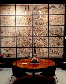 "M. Turgot: ""Plan de Paris"", c1739. Complete in twenty framed sections."
