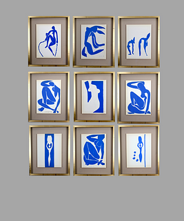 Henri Matisse. Colour Lithographs after the Cut-Outs, 1958. Price per set of nine.