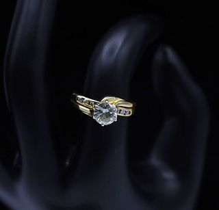 Stunning 14k Yellow Gold Diamond Ring
