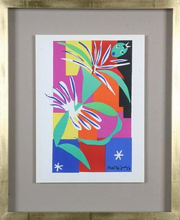 Henri Matisse. Colour Lithographs after the Cut-Outs, 1958.. Price is for each framed print.