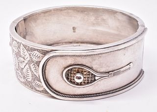 HM 1911 Sterling Tennis Cuff Bracelet