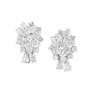 DIAMOND CLUSTER EARCLIPS