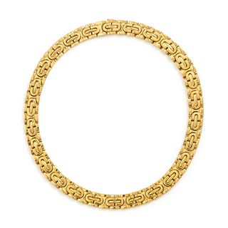 CARTIER, YELLOW GOLD COLLAR NECKLACE