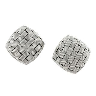 Pair of Roberto Coin 18 Kt White Gold Appassionata Ear-Clips