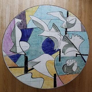 1960's Bespoke Ceramic tiled Coffee Table