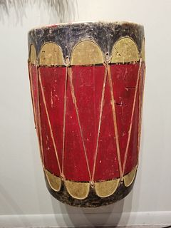 Pueblo drum, first half 20th century.