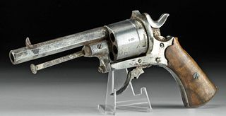 Early 20th C. European Steel Pinfire Revolver