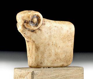 Mesopotamian Marble Amulet - Ram Form