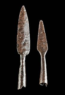 Lot of 2 Medieval Bavarian / Germanic Iron Arrow Tips