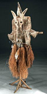 20th C. PNG Asmat Fiber Costume - Jipae Festival