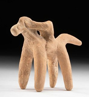 Greek Boeotian Terracotta Horse & Rider