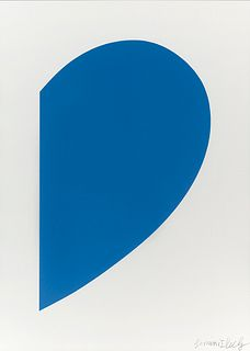ELLSWORTH KELLY - Small Blue Curve, 2012