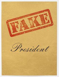RICHARD SERRA -Fake President, 2017