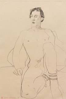 David Hockney (British, b. 1937) Gregory with Gym Socks, 1976