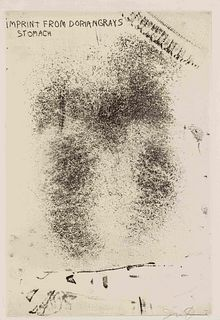 Jim Dine (American b. 1935) Imprint from Dorian Gray's Stomach (from the Picture of Dorian Gray)