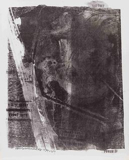 Robert Rauschenberg (American, 1925-2008) Rack (from Stoned Moon Series), 1969