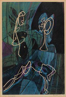 Stanley William Hayter (British, 1901-1988) La lecon d'anatomie, 1954