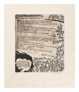 Various Artists (20th Century) 21 Etchings and Poems (complete portfolio of 21), 1960