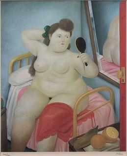 Fernando Botero (Colombian, b. 1932) La Toilette, 1983