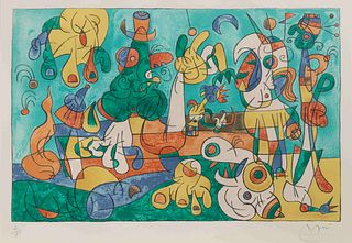 Joan Miro (Spanish, 1893-1983) Ubu Roi, Plate II, 1966
