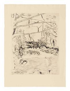 Pierre Bonnard (French, 1867-1947) Le Parc Monceau, 1937