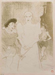 Henri de  Toulouse-Lautrec (French, 1864 - 1901) A l'Opera: Madame Caron dans Faust (L'Escarmouche edition), 1893