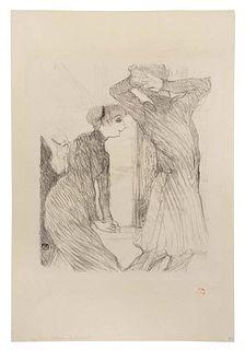 Henri de Toulouse-Lautrec (French, 1864 - 1901) Lugne-Poe et Berthe Bady, dans 'Au-dessus des Forces Humaines', 1894