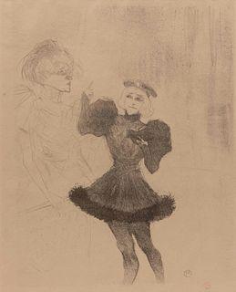 Henri de  Toulouse-Lautrec (French, 1864-1901) Lender et Lavalliere, 1895