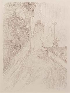 Henri de Toulouse-Lautrec (French, 1864 - 1901) La loge, 'Faust', 1896