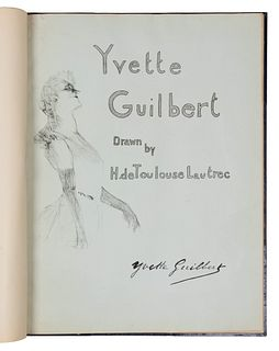 Henri de Toulouse-Lautrec (French, 1864 - 1901) Yvette Guilbert (portfolio of eight lithographs with cover; cover and frontispiece bound together with