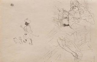 """Henri de Toulouse-Lautrec (French, 1864 - 1901) Cover for """"L'exemple de Ninon de Lenclos Amoureuse"""", 1898"""