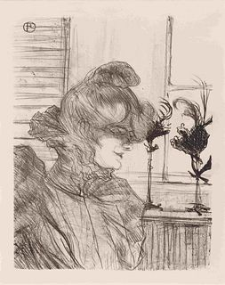 Henri de Toulouse-Lautrec (French, 1864 - 1901) Madame le Margoin, Modiste (Madame le Margoin, Milliner), 1900