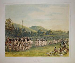George Catlin (1796-1872) - Ball Play Dance