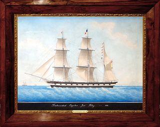 Joseph Honore Maxime Pellegrin (French, 1793-1869) - The Spanish Ship Fraternidad Captain Jose Blay 1858