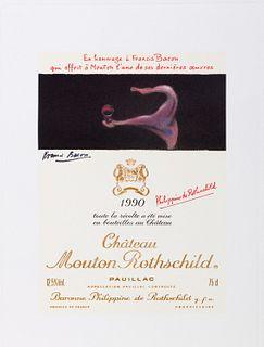 Francis Bacon (Dublino 1909-Madrid 1992)  - Chateau Mouton Rothschild, 1990