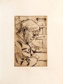 Umberto Boccioni (Reggio Calabria 1982-Verona 1916)  - Maria Sacchi reading, 1907