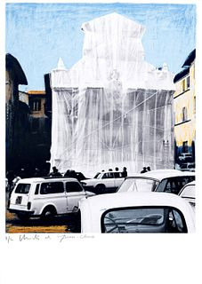 Christo e Jeanne Claude (Gabrovo, 1935 – New York 2020-Casablanca, 1935 – New York, 2009)  - Wrapped fountain, Spoleto, Italy 1968, 2002