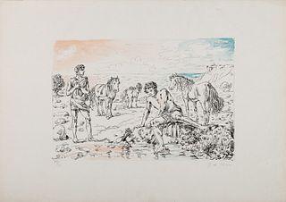 Giorgio de Chirico (Volos 1888-Roma 1978)  - Hippophilus narcissus, 1948