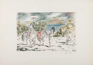 Giorgio de Chirico (Volos 1888-Roma 1978)  - Return to the shore of Corinth, 1948