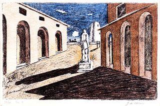 Giorgio de Chirico (Volos 1888-Roma 1978)  - Loneliness of the politician, 1966