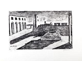 Giorgio de Chirico (Volos 1888-Roma 1978)  - The enigma of the return, 1966