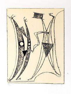 Max Ernst (Brühl 1891-Parigi 1976)  - Pierre Hebey, Festin, 1974