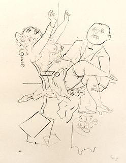 George Grosz (Berlino  1893-1959)  - A der grenze, 1923