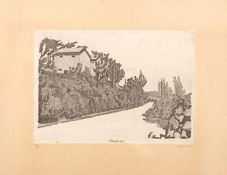 Giorgio Morandi (Bologna 1890-1964)  - The white road, 1993