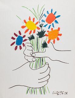 Pablo Picasso (Malaga 1881-Mougins 1973)  - Bouquet of Peace, 1958