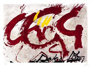 Antoni Tapies (Barcellona 1923-2012)  - For Alberti, for Spain, 1976